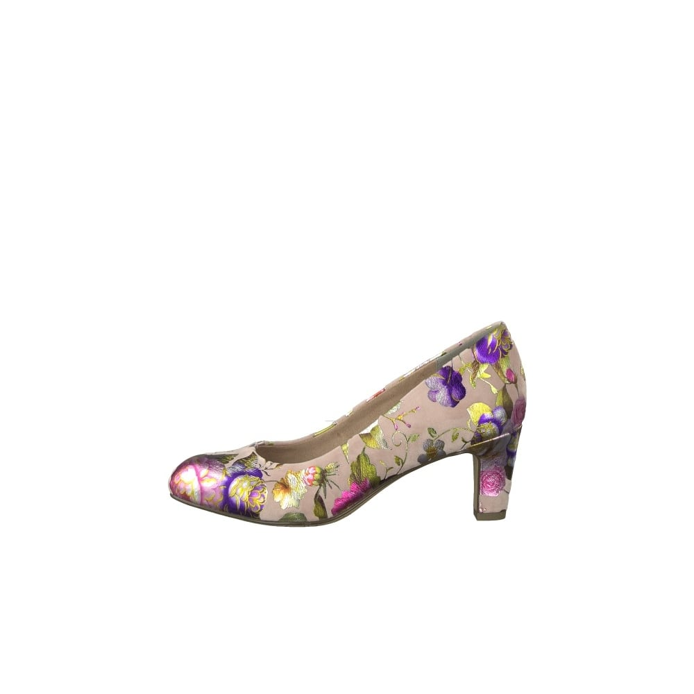 Pretty floral court shoe by Tamaris for