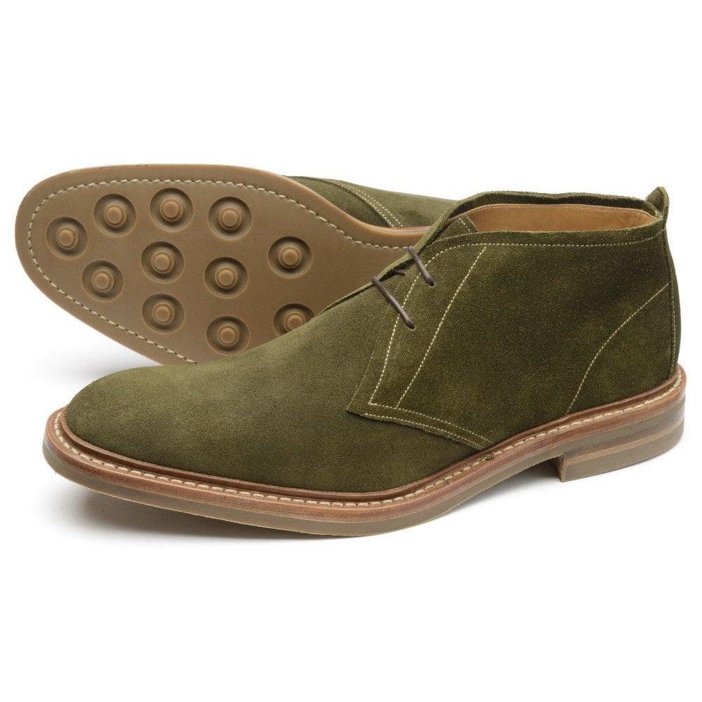 Loake Sandown Green Suede - Mens Shoes
